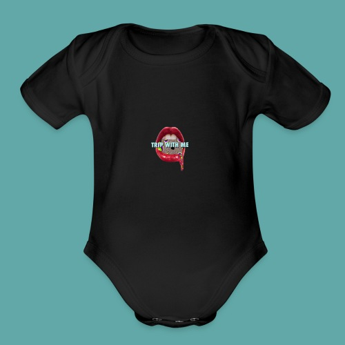 TRIP WITH ME - Organic Short Sleeve Baby Bodysuit