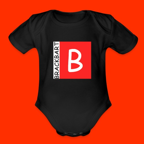 Brackbart Official Logo - Organic Short Sleeve Baby Bodysuit