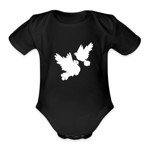 Pigeons and doves - Organic Short Sleeve Baby Bodysuit