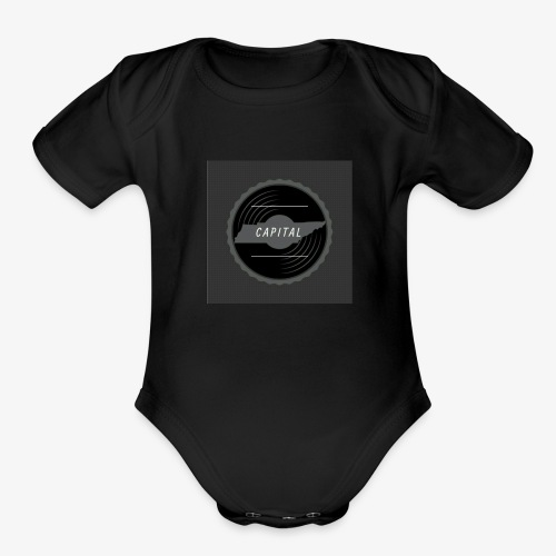 CAPITAL LOGO - Organic Short Sleeve Baby Bodysuit