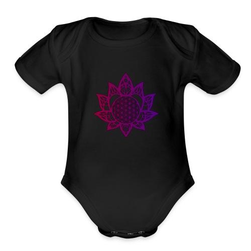 Flower of life beautiful - Organic Short Sleeve Baby Bodysuit