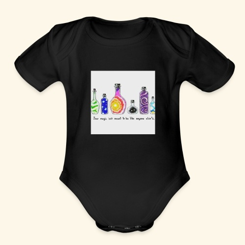 Unique - Organic Short Sleeve Baby Bodysuit