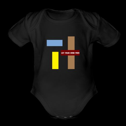 Let your mind free. - Organic Short Sleeve Baby Bodysuit