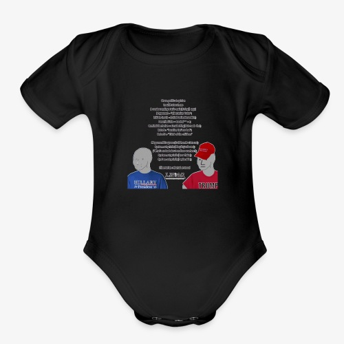 Character Who Is Not Played By A Person Meme - Organic Short Sleeve Baby Bodysuit