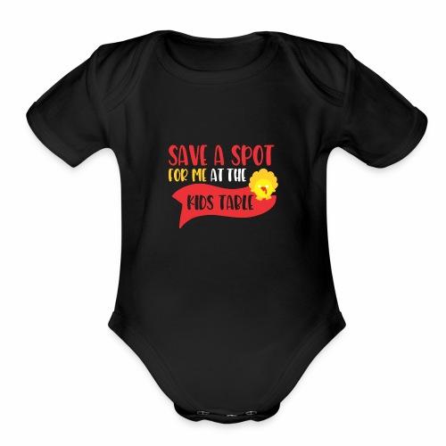 Save A Spot For MeZAA - Organic Short Sleeve Baby Bodysuit