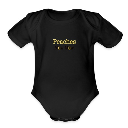 Peaches - Organic Short Sleeve Baby Bodysuit