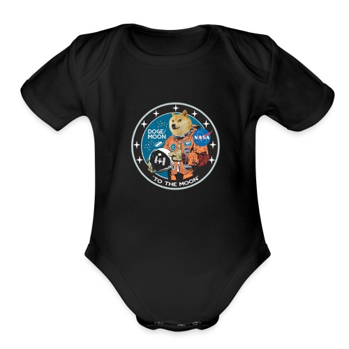 Doge to the Moon - Organic Short Sleeve Baby Bodysuit