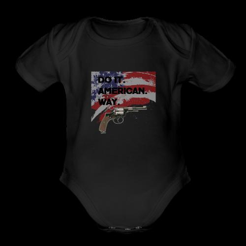 DO IT AMERICAN WAY - Organic Short Sleeve Baby Bodysuit