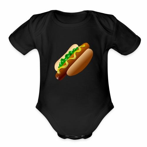 Just a Hot Dog Shirt - Organic Short Sleeve Baby Bodysuit