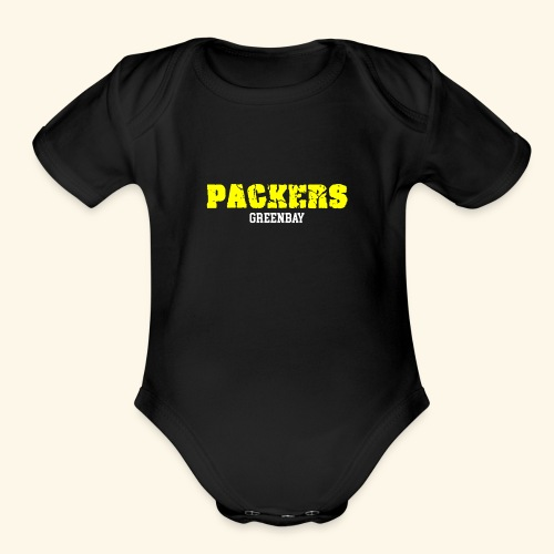 PACKERS - Organic Short Sleeve Baby Bodysuit