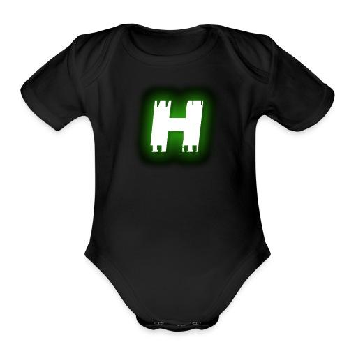 Hive Hunterz 'H' - Organic Short Sleeve Baby Bodysuit