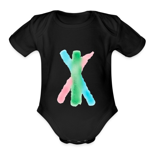 Don't Judge What You can't See - Organic Short Sleeve Baby Bodysuit