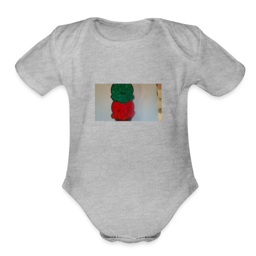 Ice cream t-shirt - Organic Short Sleeve Baby Bodysuit