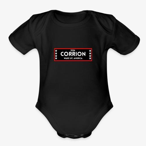 Corrion For President - Organic Short Sleeve Baby Bodysuit