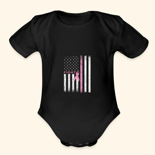 Pink Flag - Organic Short Sleeve Baby Bodysuit
