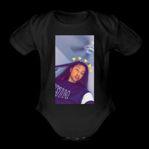 Paola's merch ! 😰💯 - Organic Short Sleeve Baby Bodysuit