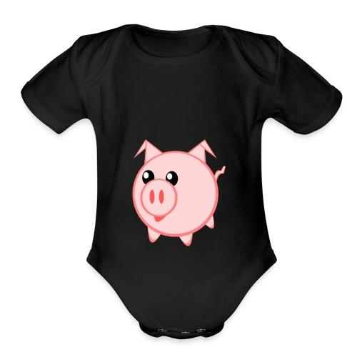 Pigs for life - Organic Short Sleeve Baby Bodysuit