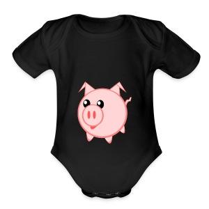 Pigs for life - Short Sleeve Baby Bodysuit