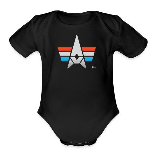 BHK Icon full color stylized TM - Organic Short Sleeve Baby Bodysuit
