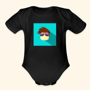 NixVidz Youtube logo - Short Sleeve Baby Bodysuit