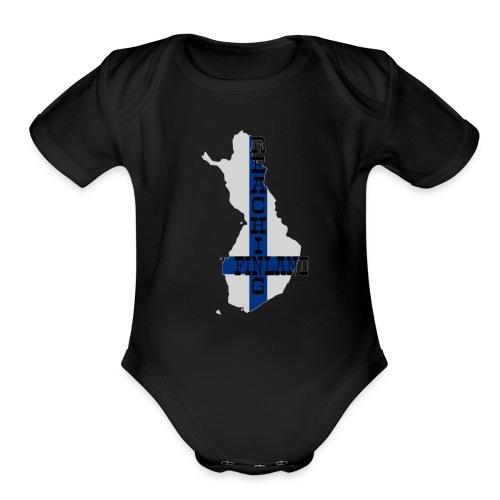 Finland - Organic Short Sleeve Baby Bodysuit