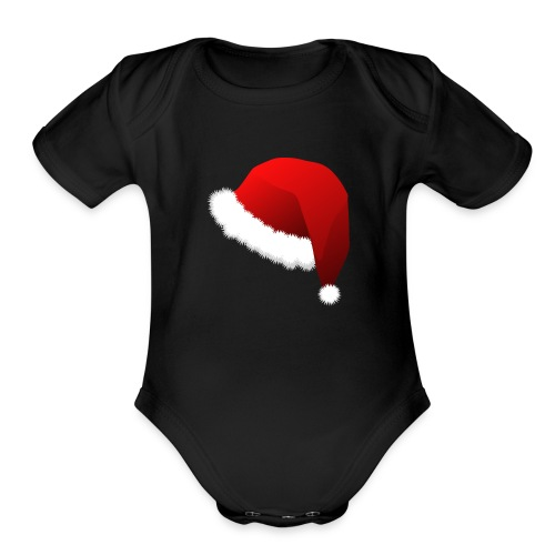 Carmaa Santa Hat Christmas Apparel - Organic Short Sleeve Baby Bodysuit