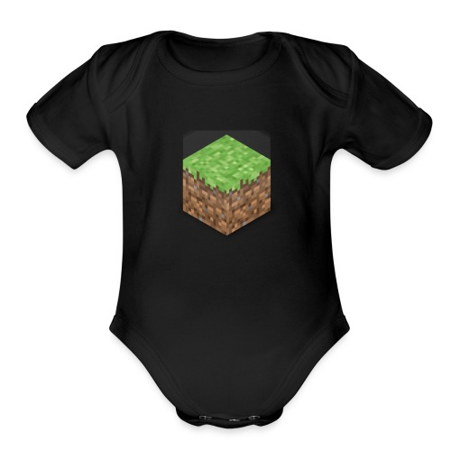 block - Organic Short Sleeve Baby Bodysuit