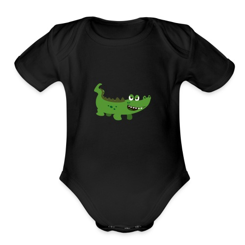 Alligator - Organic Short Sleeve Baby Bodysuit