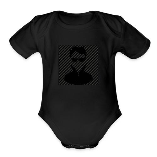 masked gamer - Organic Short Sleeve Baby Bodysuit
