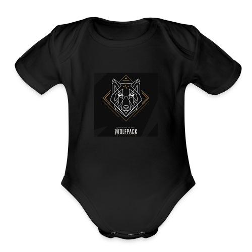 Digital Wolf - Organic Short Sleeve Baby Bodysuit