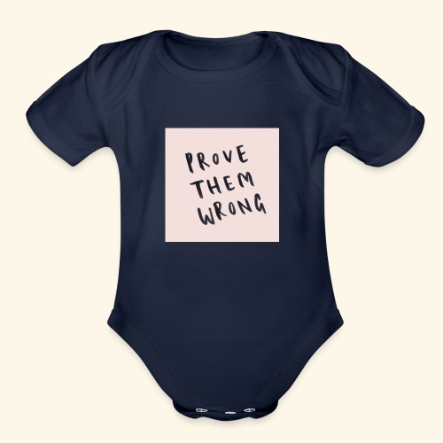 show em what you about - Organic Short Sleeve Baby Bodysuit