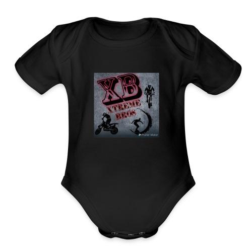 Photo 1525481050497 - Organic Short Sleeve Baby Bodysuit