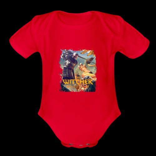 The Witcher 3 - Griffin - Organic Short Sleeve Baby Bodysuit