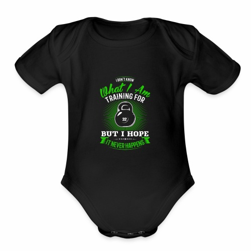 Workout Training - Organic Short Sleeve Baby Bodysuit