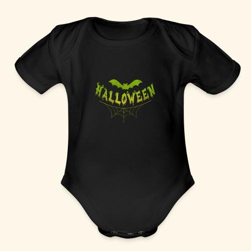 halloween - Organic Short Sleeve Baby Bodysuit