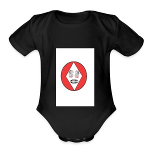 Red white reccklezz exchange - Short Sleeve Baby Bodysuit