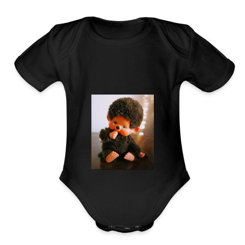 Monchichi - Organic Short Sleeve Baby Bodysuit