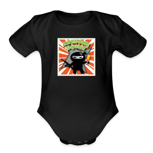 AWESOME SQUAD merch - Organic Short Sleeve Baby Bodysuit