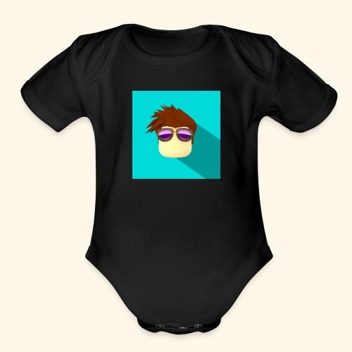NixVidz Youtube logo - Organic Short Sleeve Baby Bodysuit
