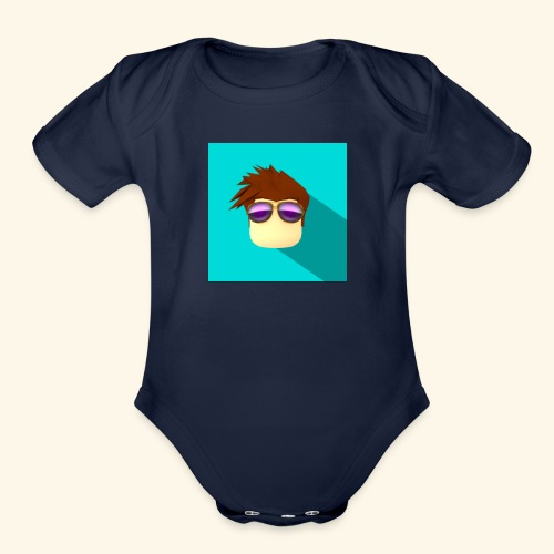 NixVidz Youtube logo - Organic Short Sleeve Baby Bodysuit