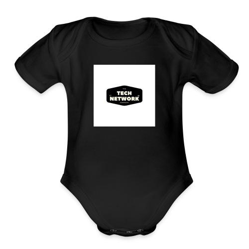 TECH NETWORK - Organic Short Sleeve Baby Bodysuit