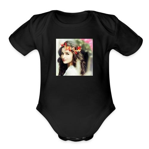 Alia Bhatt 01 - Organic Short Sleeve Baby Bodysuit