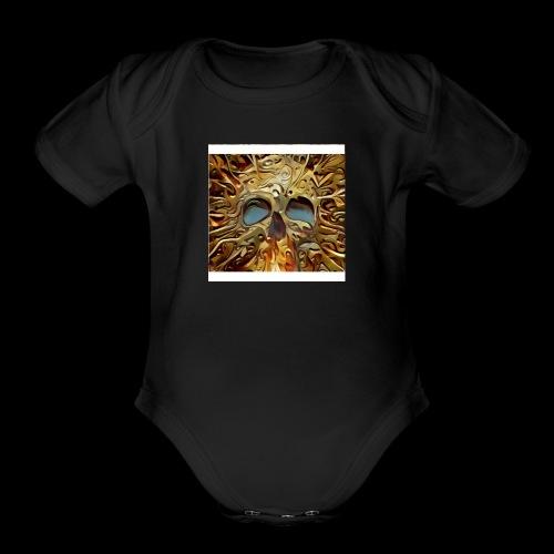 Golden skull - Organic Short Sleeve Baby Bodysuit