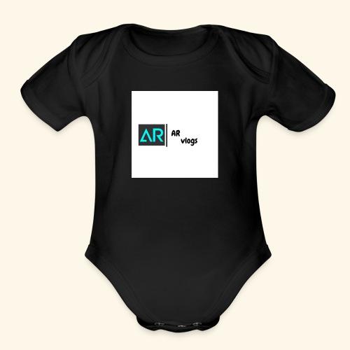 premium AR vlogs half sleeves tee - Organic Short Sleeve Baby Bodysuit