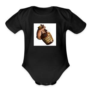 Hen Dawg - Short Sleeve Baby Bodysuit