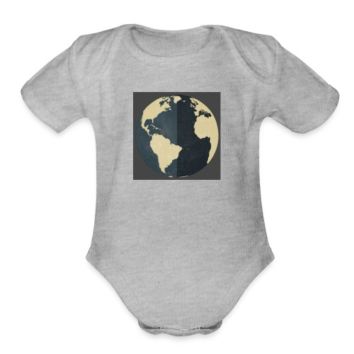 The world as one - Organic Short Sleeve Baby Bodysuit