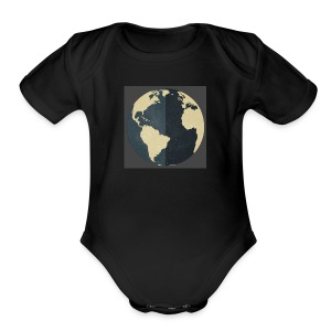 The world as one - Short Sleeve Baby Bodysuit