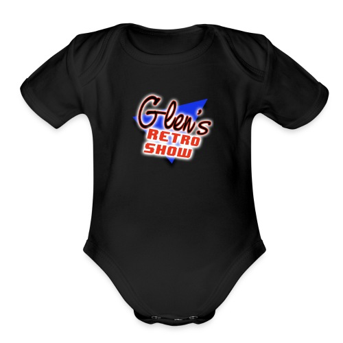 Glen s Retro Show Logo - Organic Short Sleeve Baby Bodysuit