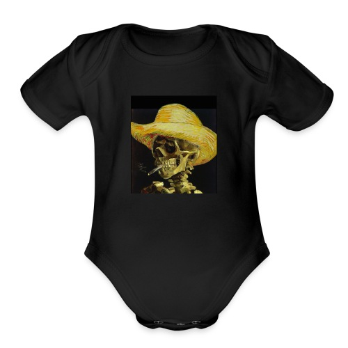 smoking dead - Organic Short Sleeve Baby Bodysuit