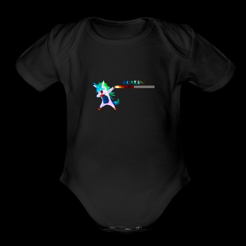 Dabbing unicorn still Loading - Organic Short Sleeve Baby Bodysuit